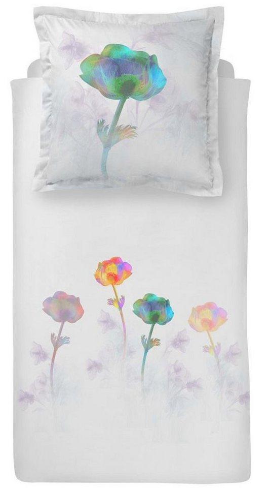 Bettwäsche, Damai, »Humenga«, in schillernden Farben in weiß