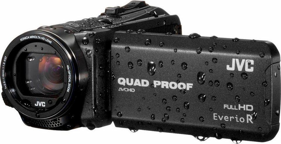 JVC GZ-R415 1080p (Full HD) Camcorder, Staubfest in schwarz
