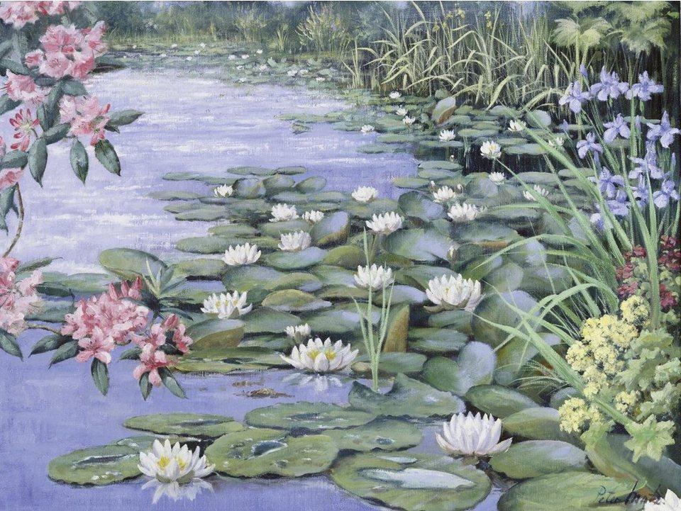 Home affaire, Leinwandbild, »Peter Motz: Der See«, 80/60 cm in grün