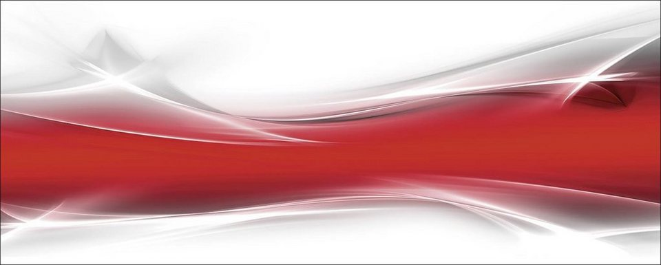Home affaire, Glasbild, »Designus: Kreatives Element Rot«, 125/50 cm in Rot