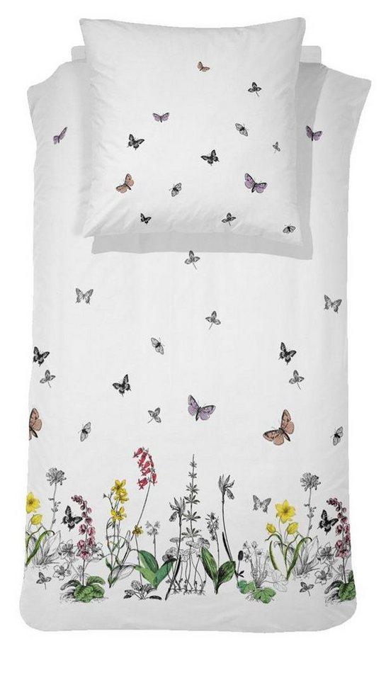 Bettwäsche, Cinderella, »Felice«, mit Schmetterlingen in weiß
