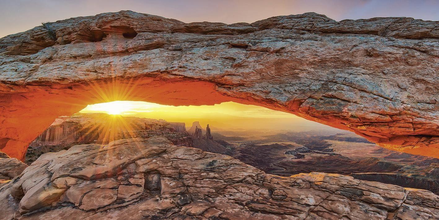 Home affaire, Leinwandbild, »Lucky-photogr.: Iconic Mesa Arch in Utah«, 120/60 cm