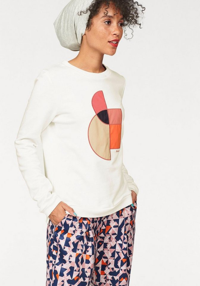 Bench Sweatshirt mit grafischer Applikation in offwhite