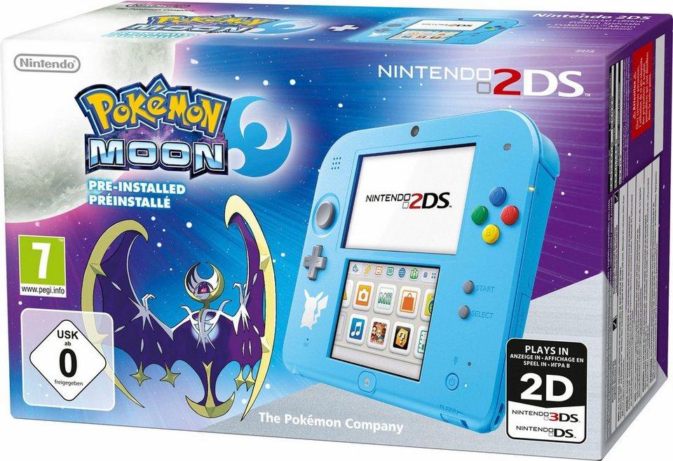 Nintendo 2DS Special Edition Pokémon Mond vorinstalliert in hellblau