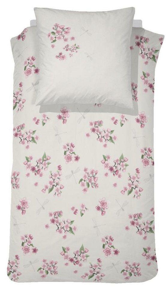 Bettwäsche, Cinderella, »Millie«, mit Blüten in wollweiß
