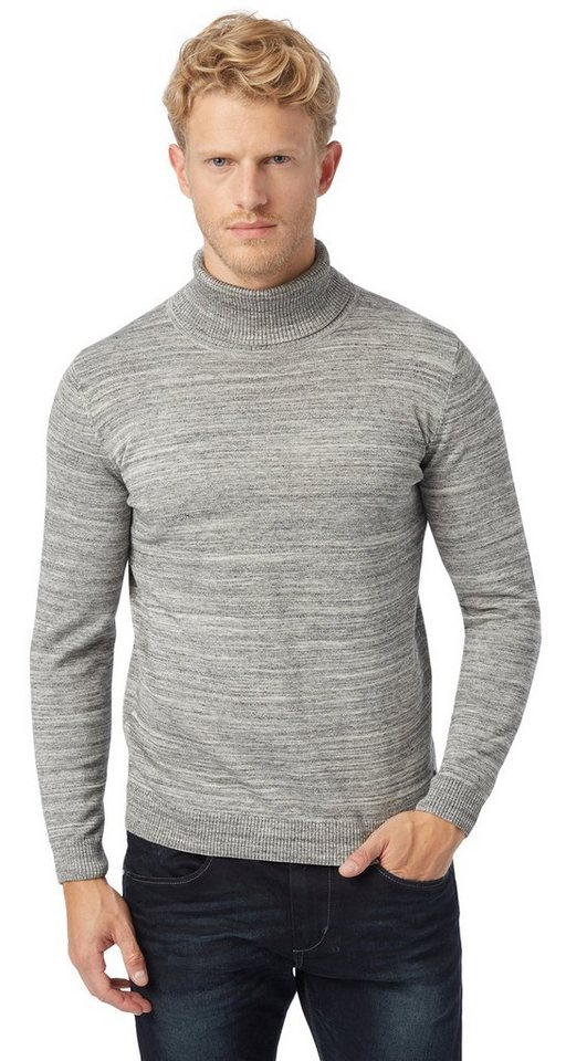 TOM TAILOR Pullover »Rollkragen Pullover« in knit white