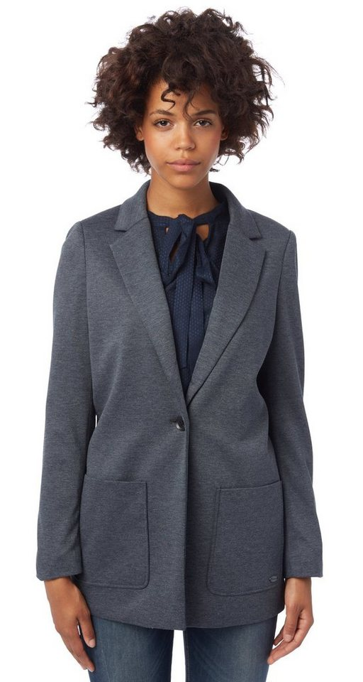 TOM TAILOR DENIM Blazer »Jerseyblazer im Loose-Fit« in sky captain blue