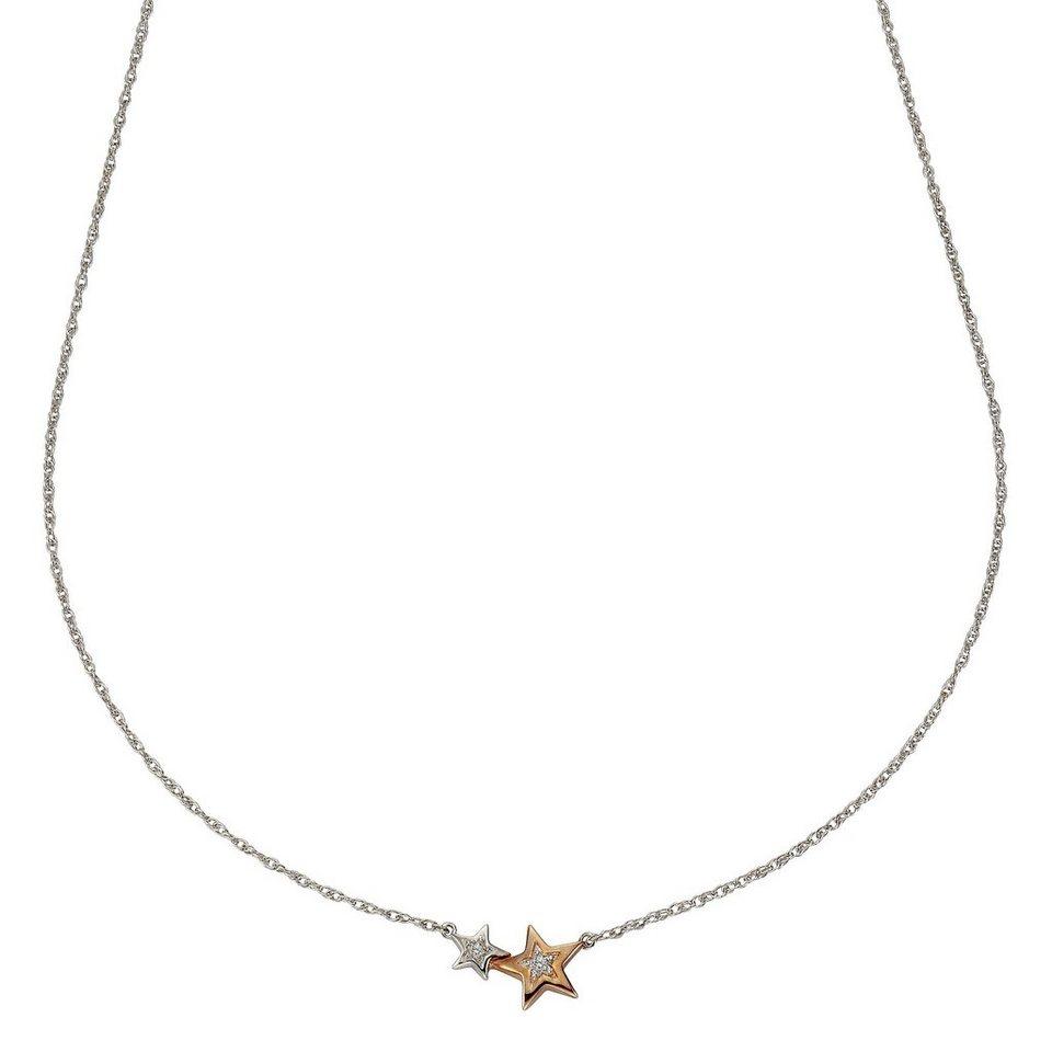 CELESTA Collier »925/- Silber 2x Diamant« in mehrfarbig