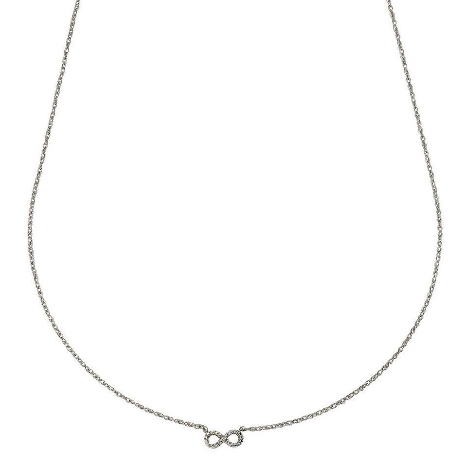 CELESTA Collier »925/- Silber 3xDiamant« in Silbergrau