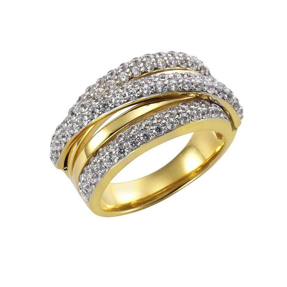 CELESTA Ring »925/- Sterling Silber Zirkonia« in mehrfarbig