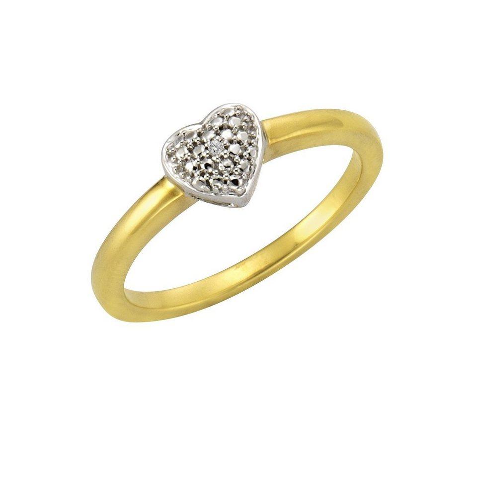 CELESTA Ring »925/- Silber 1x Diamant« in mehrfarbig