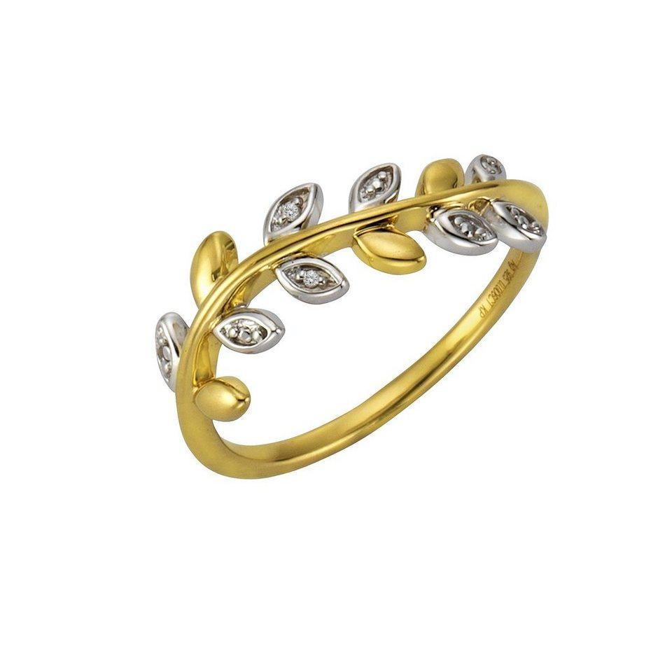 CELESTA Ring »925/- Silber 2x Diamant« in mehrfarbig