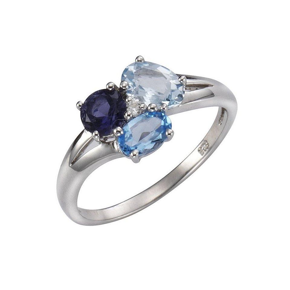 CELESTA Ring »925/- Sterling Silber« in weiß