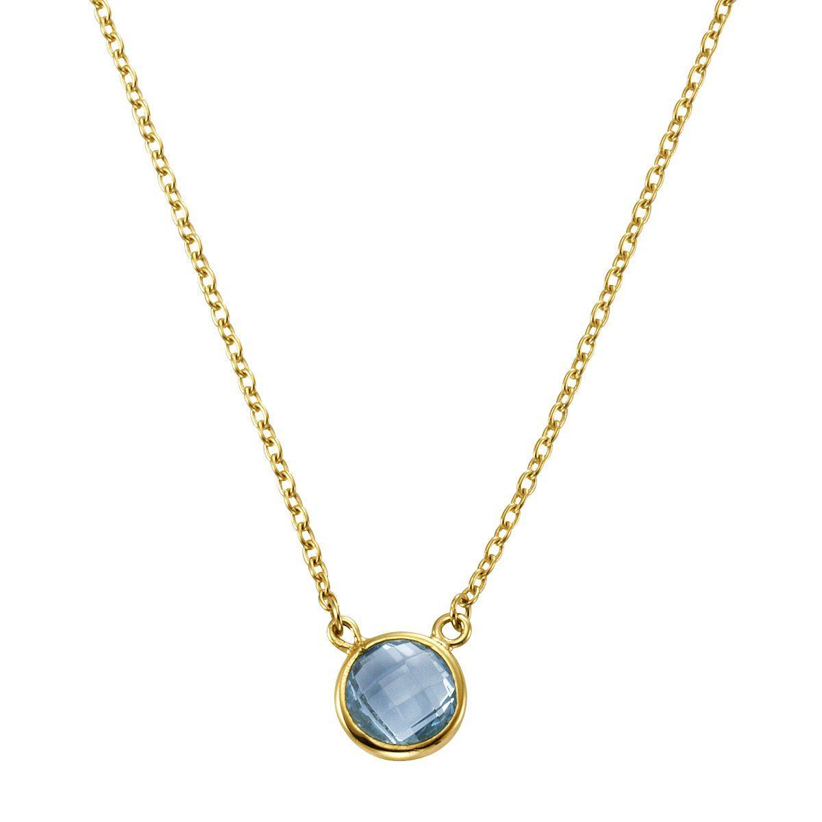 CELESTA Collier »375/- Gelbgold Blautopas(beh)«