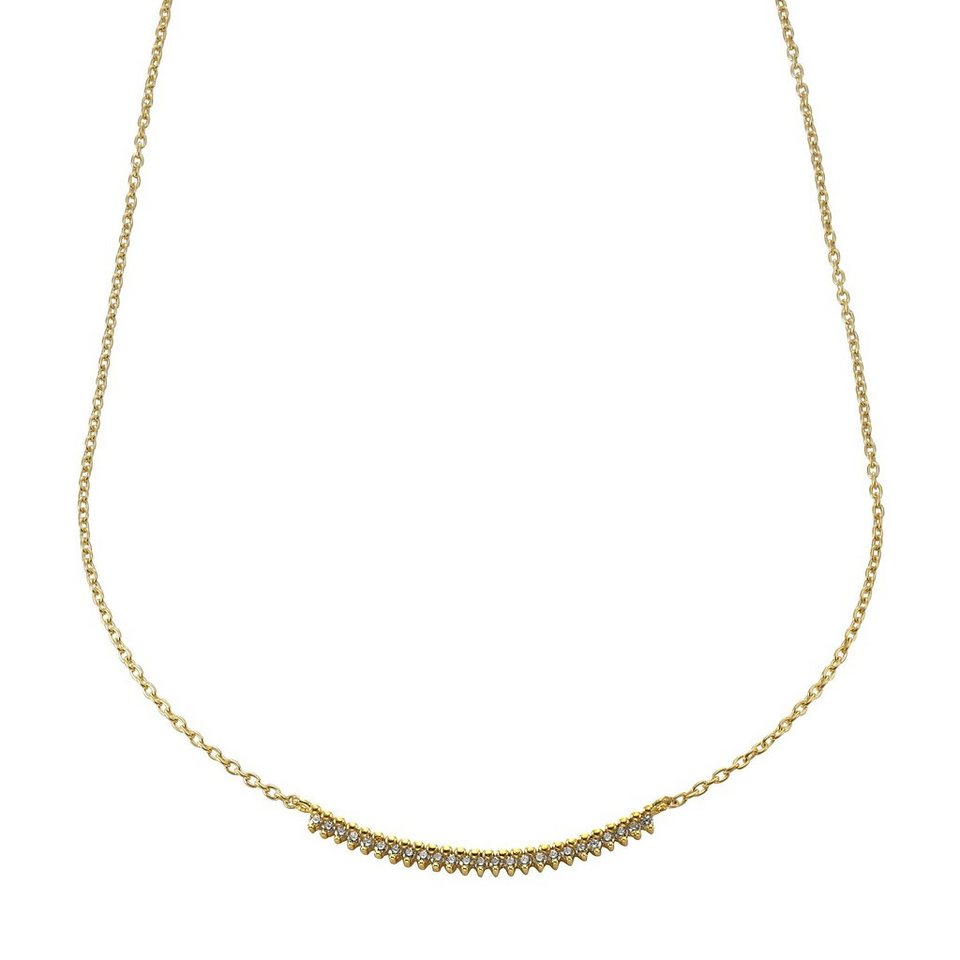 Jacques Lemans Collier 375/- Gold mit Zirkonia in gelb
