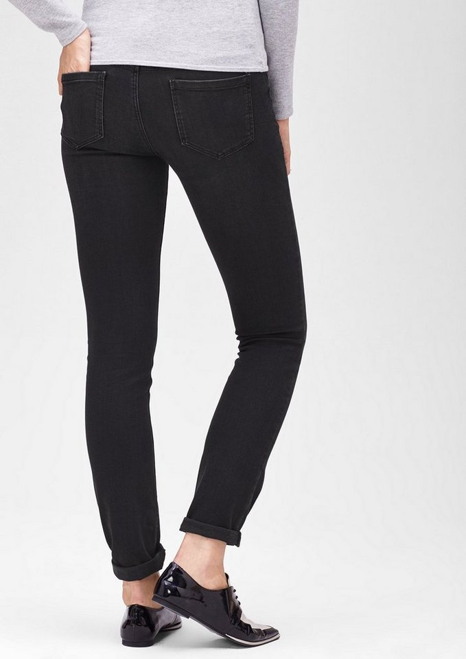 s.Oliver BLACK LABEL Slim: Dunkle Stretch-Hose in black