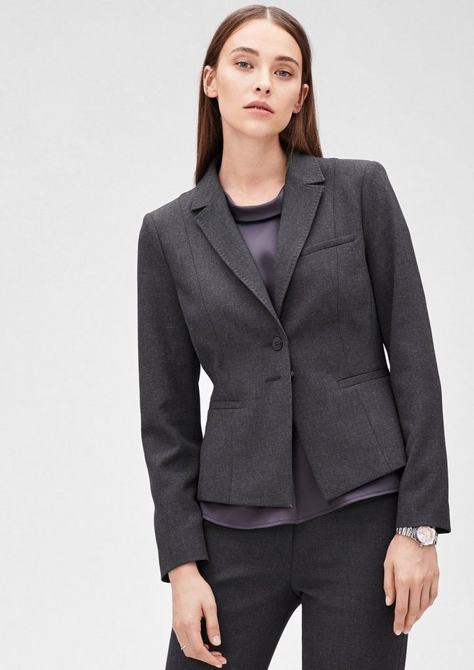 s.Oliver BLACK LABEL Elastischer Blazer in Melange in glory grey
