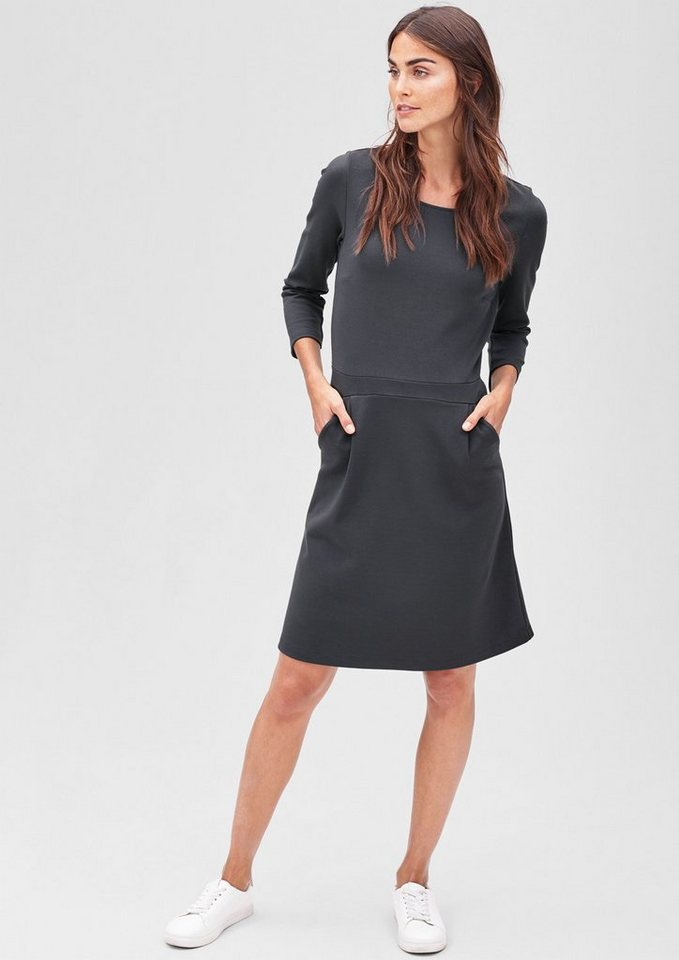 s.Oliver BLACK LABEL Stretch-Kleid aus Interlock-Jersey in dark grey