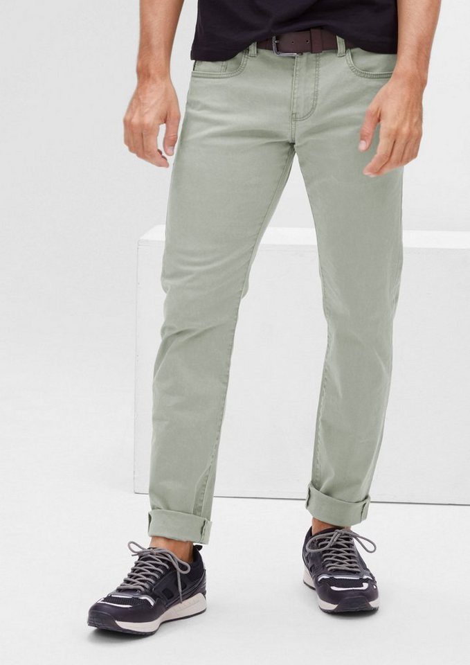 s.Oliver RED LABEL Close Slim: Jeans mit Gürtel in stone green