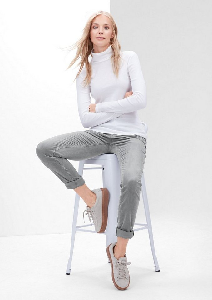 s.Oliver RED LABEL Shape Skinny: Stretchige Cordhose in pearl grey