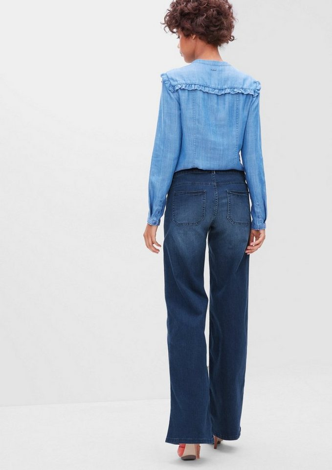 s.Oliver RED LABEL Smart Wide: Jeans mit Schlag in illusion blue denim