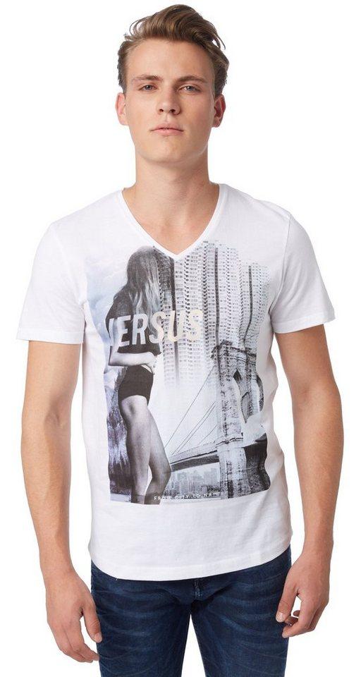 TOM TAILOR DENIM T-Shirt »org.cotton photoprint tee« in white