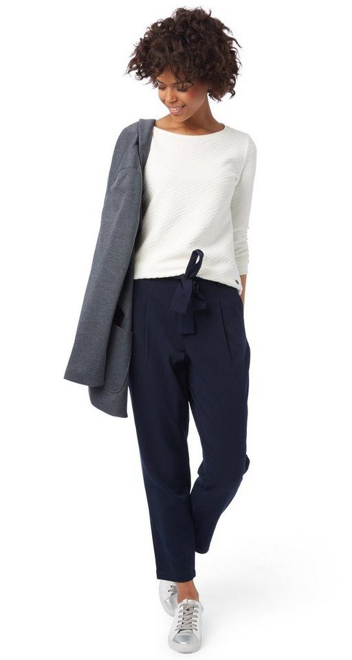 TOM TAILOR DENIM Hose »highwaisted pants with pleats« in sky captain blue