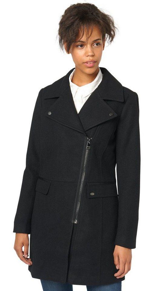 TOM TAILOR DENIM Jacke »biker coat« in black