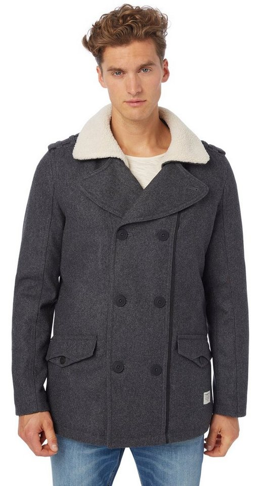 TOM TAILOR DENIM Jacke »wool caban« in pavement grey