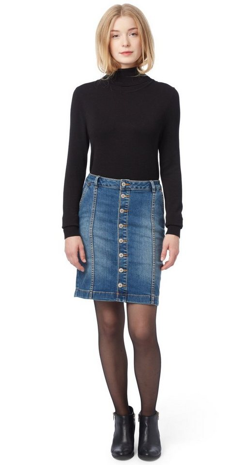 TOM TAILOR Rock »denim skirt« in mid stone wash denim
