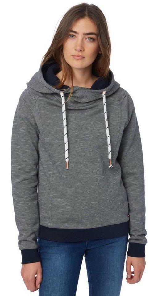 TOM TAILOR DENIM Sweatshirt »structured hoodie sweat« in sky captain blue