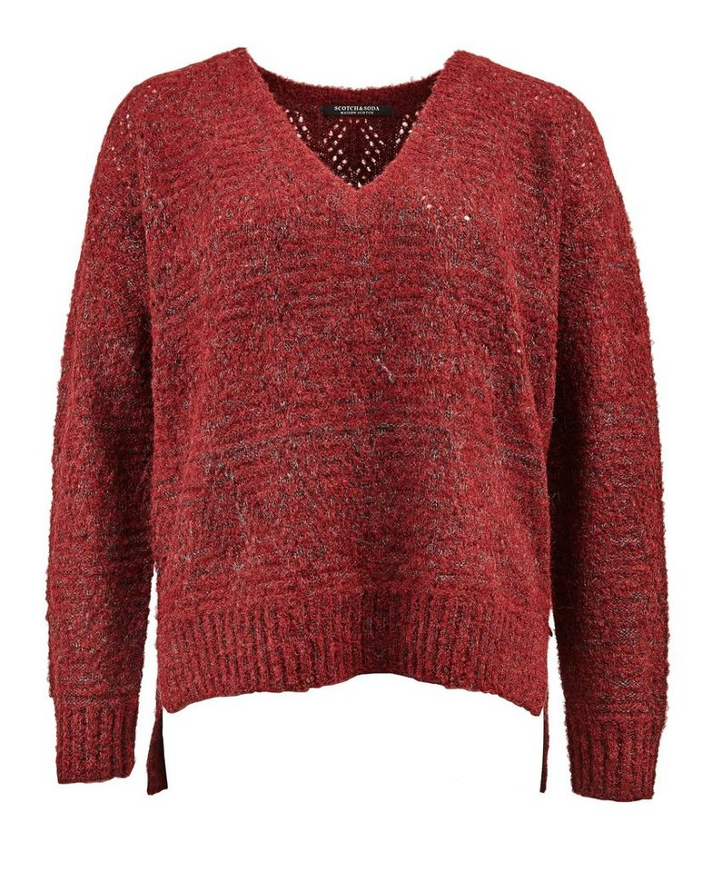 Maison Scotch Pullover »Super soft fluffy knit with longer back« in rot