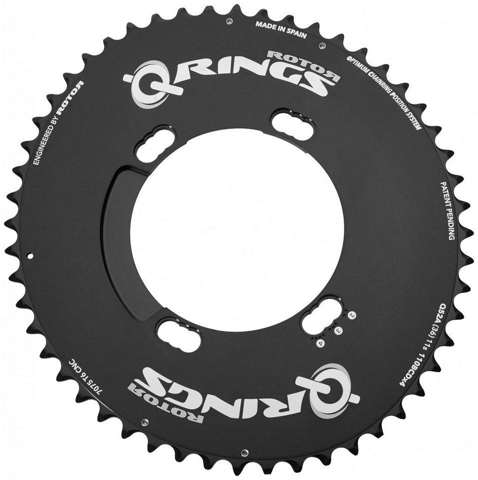 Rotor Kettenblatt »Q-Ring Aero Kettenblatt außen 110mm Shimano 4-Loch«