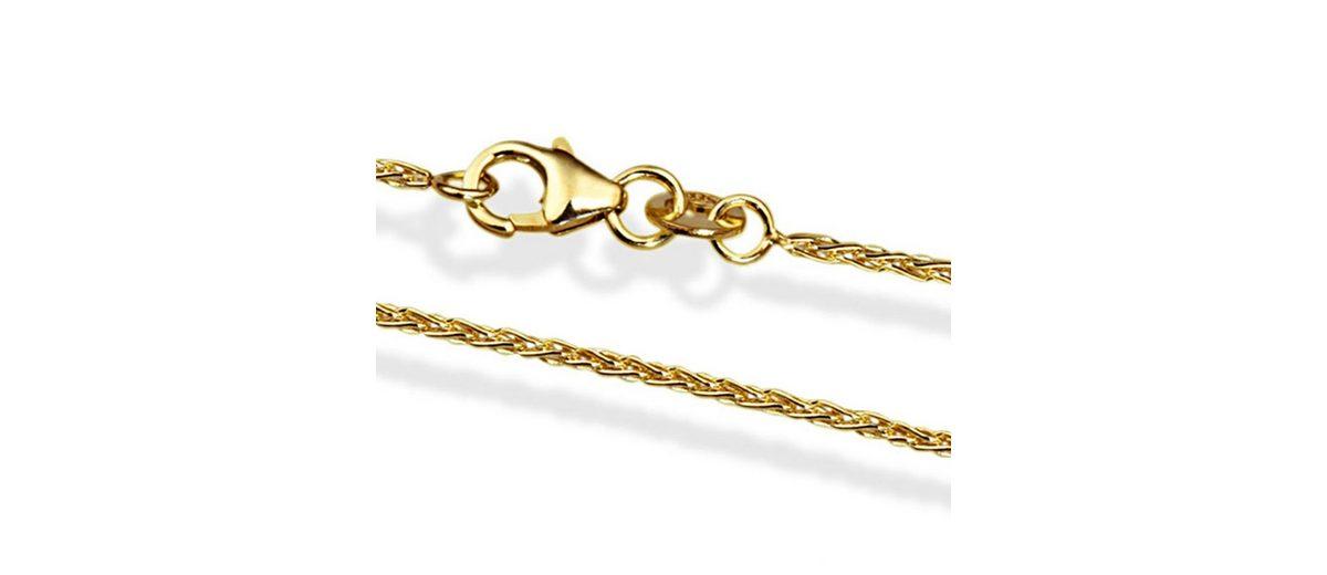 goldmaid Zopfkette 585/- Gelbgold 45 cm