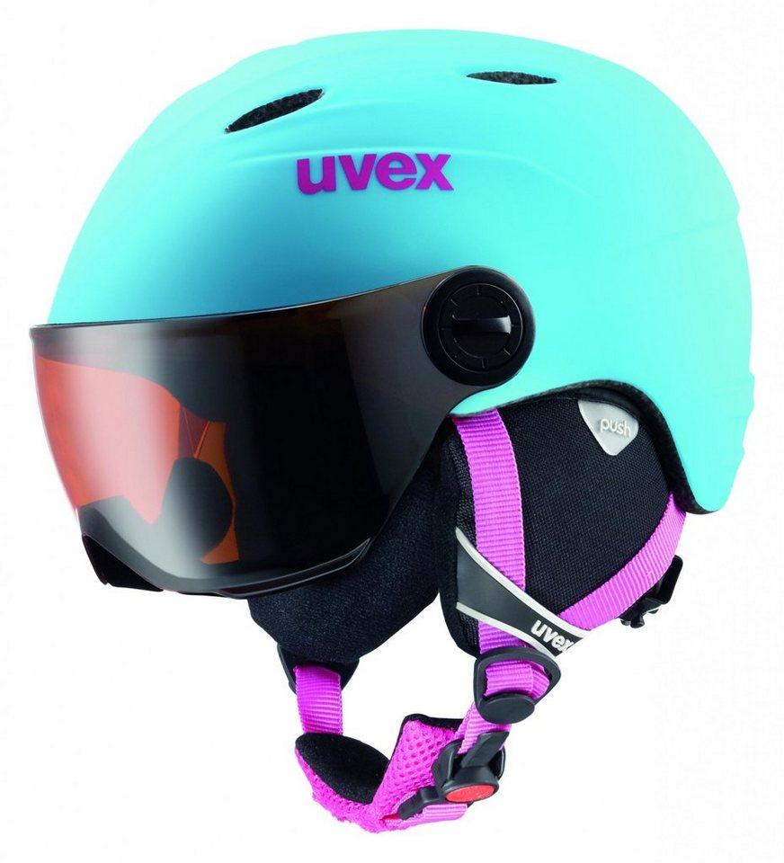UVEX Ski - / Snowboardhelm »Junior visor pro Helmet« in türkis