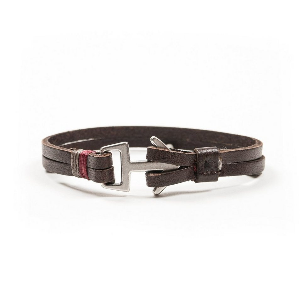 LERROS LERROS Armband 'DARREN' in DARK BROWN
