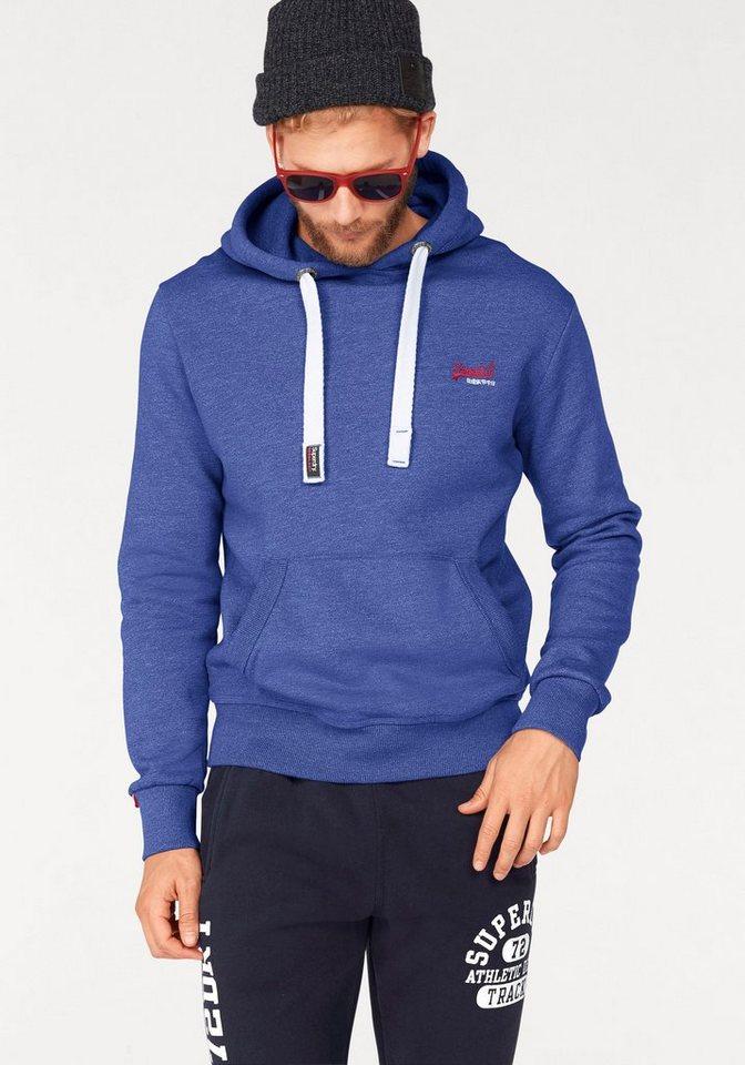 Superdry Kapuzensweatshirt »ORANGE LABEL HOOD« in blau-meliert