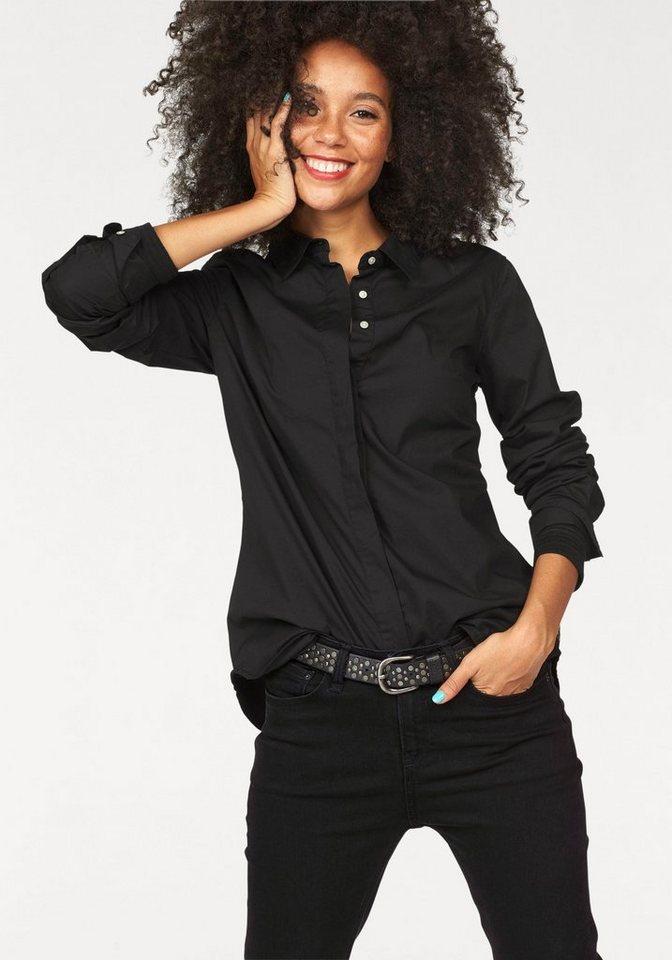 Garcia Hemdbluse in klassischer Form in schwarz