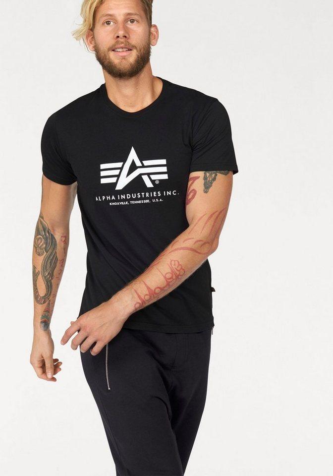Alpha Industries T-Shirt »Basic T-Shirt« in schwarz