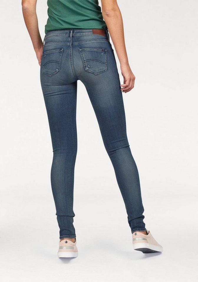 Hilfiger Denim Skinny-fit-Jeans »Nora« mit Destroyed-Effekten in easy-blue-Stretch