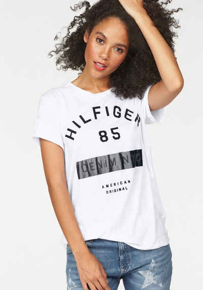 Hilfiger Denim Rundhalsshirt, in Loose-Fit-Optik Sale Angebote Tschernitz