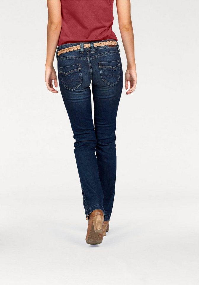 Pepe Jeans Straight-Jeans »BANJI« mit 2-Knopf-Verschluss in blue