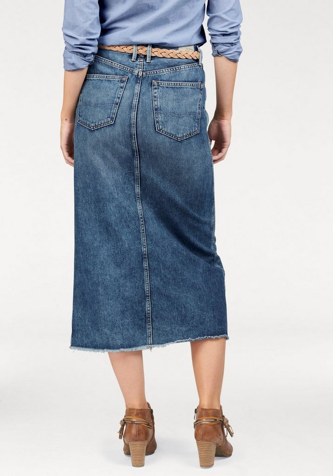 Pepe Jeans Maxirock »Pippa« in cooler Maxi-Form in dark-blue