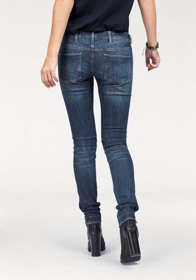 G-Star Skinny-fit-Jeans mit 3D Formnähten in medium-aged