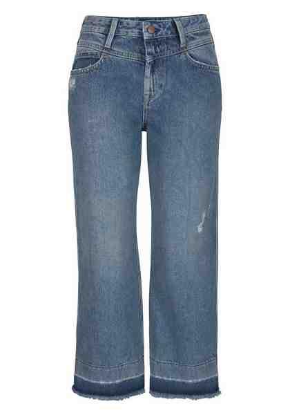 Pepe Jeans Destroyed-Jeans »PATTI DLX«, mit ausgefranstem Saum