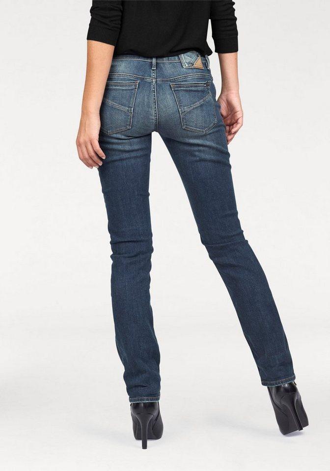 Garcia Straight-Jeans »Riva« mit geradem Bein in dark-blue-used