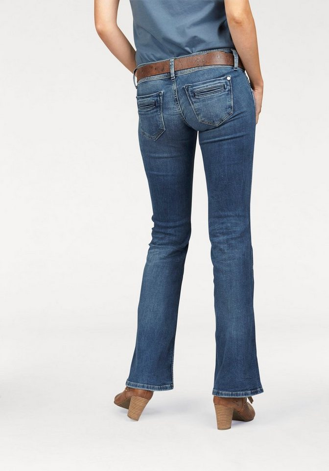 Pepe Jeans Bootcut-Jeans »PIMLICO« mit breitem Bund in blue-denim