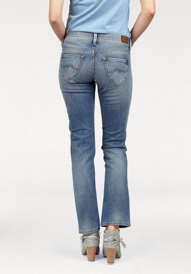 Pepe Jeans Straight-Jeans »OLYMPIA« mit Stretch-Anteil in light-blue