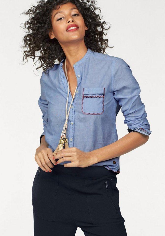 Pepe Jeans Jeansbluse »Marvi« mit aufwendigen Naht-Details in light-blue