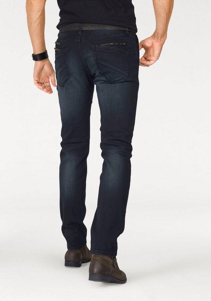 Bruno Banani Straight-Jeans »Noak (Stretch)« in darkblue-used